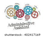 gears and administrative... | Shutterstock .eps vector #402417169