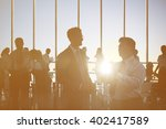 back lit business people... | Shutterstock . vector #402417589