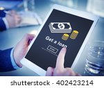 loan borrowing budget capital... | Shutterstock . vector #402423214