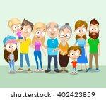big family portrait | Shutterstock .eps vector #402423859
