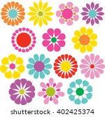 simple vector flowers   Shutterstock .eps vector #402425374