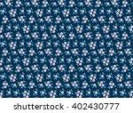 cute pattern in small flower.... | Shutterstock .eps vector #402430777