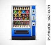 realistic snacks vending... | Shutterstock .eps vector #402433795