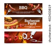 barbecue party horizontal... | Shutterstock .eps vector #402433819