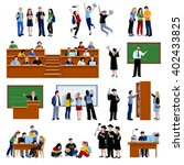 students at the university | Shutterstock .eps vector #402433825