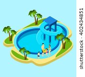 family at water park with... | Shutterstock .eps vector #402434851