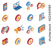 isometric isolated icon set ... | Shutterstock .eps vector #402434989