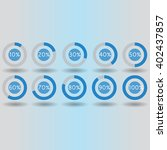 icons pie graph circle... | Shutterstock . vector #402437857