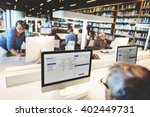 library academic computer... | Shutterstock . vector #402449731