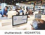 library academic computer... | Shutterstock . vector #402449731