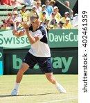 Small photo of Melbourne, Australia - March 6, 2016: US Davis Cup team winning the Davis Cup tie against Australia at Kooyong Lawn Tennis Club