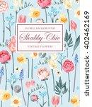 shabby chic vector background | Shutterstock .eps vector #402462169