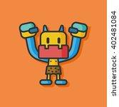 robot machine vector icon   Shutterstock .eps vector #402481084