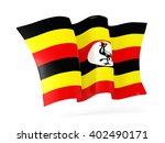 waving flag of uganda isolated... | Shutterstock . vector #402490171