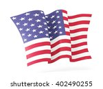 waving flag of united states of ... | Shutterstock . vector #402490255