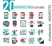 marketing icon set | Shutterstock .eps vector #402492751