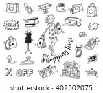 shopping time doodle icon | Shutterstock .eps vector #402502075