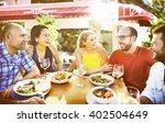friend friendship dining... | Shutterstock . vector #402504649