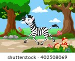 funny zebra with a background... | Shutterstock . vector #402508069