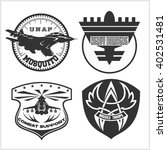 air force military emblem set... | Shutterstock .eps vector #402531481