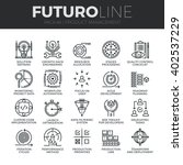 modern thin line icons set of... | Shutterstock .eps vector #402537229