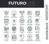modern thin line icons set of... | Shutterstock .eps vector #402537247