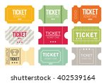 tickets icon. flat design.... | Shutterstock .eps vector #402539164