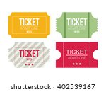 tickets icon. flat design.... | Shutterstock .eps vector #402539167
