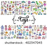 vector set with hand drawn... | Shutterstock .eps vector #402547045