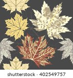 seamless pattern with maple... | Shutterstock .eps vector #402549757
