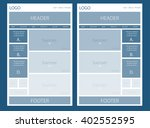 website layout for business or...   Shutterstock .eps vector #402552595