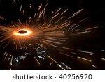 a spinning firecracker and... | Shutterstock . vector #40256920