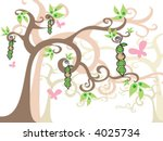 baby girls peas in a pod ... | Shutterstock .eps vector #4025734