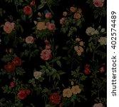 Rose Grunge Vintage Pattern