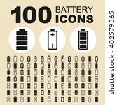 battery and energy icons. power ... | Shutterstock .eps vector #402579565