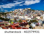 view on colorful buildings... | Shutterstock . vector #402579931