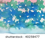 abstract watercolor background... | Shutterstock . vector #40258477