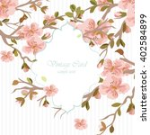vintage invitation card with... | Shutterstock .eps vector #402584899