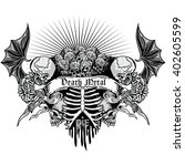 gothic coat of arms with skull  ...