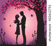 illustration black silhouette...   Shutterstock .eps vector #402612751