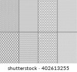 set of abstract seamless lace... | Shutterstock .eps vector #402613255