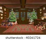3d Rendered Christmas Shop Wit...