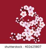 flowering  branch   Shutterstock .eps vector #402625807