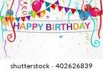birthday decoration background  | Shutterstock . vector #402626839