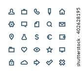 bold outline vector icon set  ... | Shutterstock .eps vector #402628195
