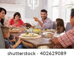 extended hispanic family... | Shutterstock . vector #402629089