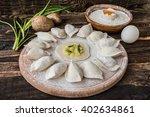 Raw Dumplings With Potatos On ...