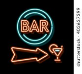 retro neon sign with the word... | Shutterstock . vector #402637399
