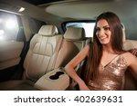 glamorous dark haired young... | Shutterstock . vector #402639631
