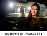 two women in the back of a limo ... | Shutterstock . vector #402639661
